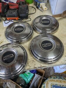 4 Vintage Oem Ford 60 S Dogdish Center Cap Hubcaps Wheel Covers