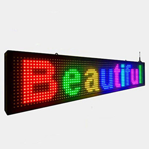 Outdoor Full Color P10 Wifi Scrolling Texts Messages New Sign Board High Quality