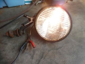 Vintage Dietz 909 Driving Head Fog Lamp Light W mounting Bracket Rat Rod No Dent