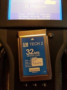 Selling 2 Cards 1 Gm Tech2 Memory Card 32mb W 33 004 And 1 Saab 148 000 Card