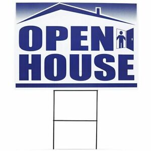 Juvale 6 pack Open House Signs Double sided For Real Estate Agents With Stakes