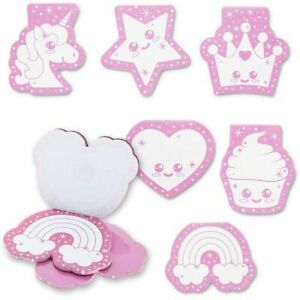 24 pack Kids Mini Party Favor Notepads 24 Sheets Each Pad 6 Pink Designs