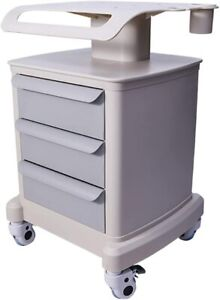 Mobile Trolley Cart For Ultrasound Hospital Salon Trolley Storage Cart 3 Drawers