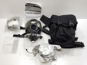Msa Millennium Cbrn Riot Control 40mm Canister Gas Mask W Carrying Bag Extras