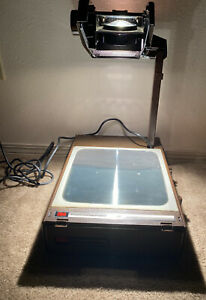 Vintage 3m 6200agb Portable Overhead Transparency Projector Folding Case Working