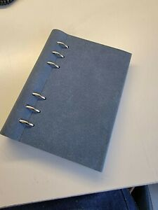 Filofax Clipbook Personal Suede Notebook With Lots Of Inserts
