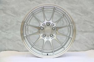 19 x8 5 19 x9 5 Et35 5x114 3 Cb73 1 Silver Machined Face Staggered Set