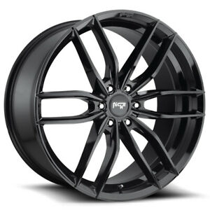 4 niche M209 Vosso Suv 20x9 6x132 35mm Gloss Black Wheels Rims 20 Inch