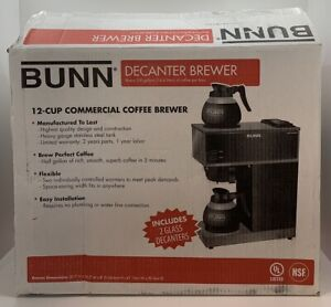 Bunn Vpr Series 12 cup Commercial Coffee Brewer Maker 2 burner Decanters