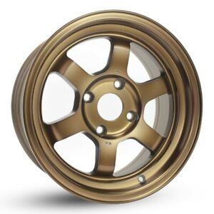 4 Pcs Rota Grid V Wheels 15x7 4x114 3 20 73 Full Royal Sport Bronze