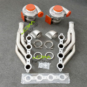 A r 80 81 Oil Turbos Manifold t3 T4 To 3 0 V Band Elbows For V8 Ls1 Ls2 5 3