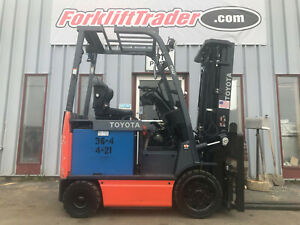 Toyota 8fbcu20 5000lb Electric Cushion Tire Forklift With Ssfp