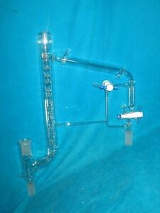 Reliance Glass Jacketed Vigreux Distillation Head W 10 30 And 24 40