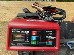 10 2 50 Amp 12v Manual Car Battery Charger With Engine Start Cen Tech Preowned