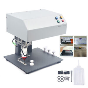 110v 60hz Metal Plate 10mm Electric Table Type Marking Machine 190 120mm Sale