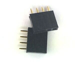 20x 4 Pin Female Tall Stackable Header Connector Sockets For Arduino Shield Hm