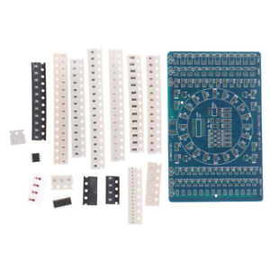 Smd Rotating Led Smd Components Soldering Practice Board Kit Diy Mod_xihm