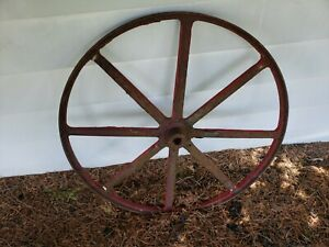 Huge Antique 37 Cast Iron Wheel From Bandsaw