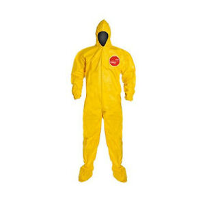 Dupont Tychem 2000 Size L Chemical Resistant Coverall W Hood 12 Pcs D13479141