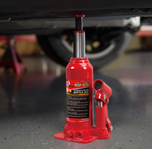 Torin Hydraulic Welded Bottle Jack 10 Ton 20 000 Lb Capacity Red