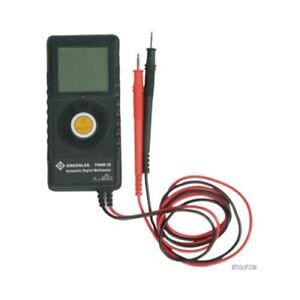Greenlee Pdmm20 Ac dc 6000 count Lcd Pocket Multimeter With Auto select Mode