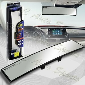 Universal Broadway 360mm Wide Convex Interior Clip On Rear View Clear Mirror