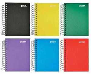 Fat Book Spiral Notebooks 6 Pack Small Notebooks With Poly Plastic Covers