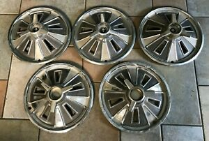 1966 Ford Mustang Hubcap Spinner Center Cap Vintage Wheel Covers Set Of 5 Used