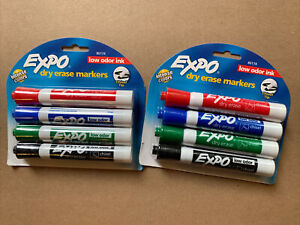 Lot Of 2 Expo 80174 Whiteboard Markers 4 Pack New