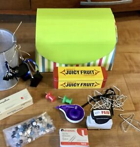 Massive Lot Of 50 Home Office Supplies Binder Clips All Sizes Staples Euc
