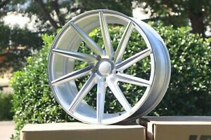 20x10 W013 Et35 5x114 3 Cb73 1 Silver Machined Face Tuner Wheels Set Of 4