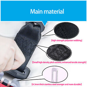 Cars Universal Seat Belt Extender Safety Extension Automotive 12 5 Inch 2pcs