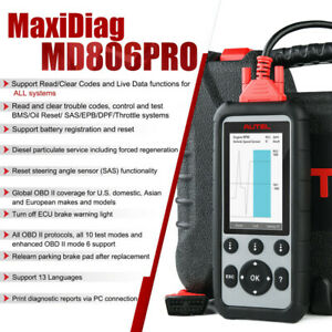 Autel Maxidiag Md806 Cars Diagnostic Scanner All System Auto Code Reader Tool