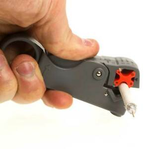 Rotary Coax Coaxial Cable Wire Cutter Stripper Rg6 Rg11 Rg58 Rg59 Stripping Tool