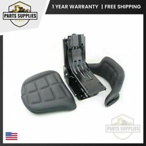 Deutz 6035 Tractor Seat And Suspension Assembly Black Vinyl