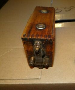 1913 1927 Ford Model T Ignition Spark Coil With Dovetailed Wood Case