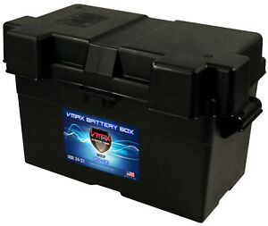 Vmaxtanks Adjustable Battery Box For Marine Group 27 31 For Boats Pontoons