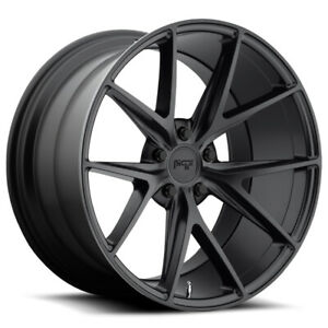 4 niche M117 Misano 19x8 5 5x108 40mm Matte Black Wheels Rims 19 Inch