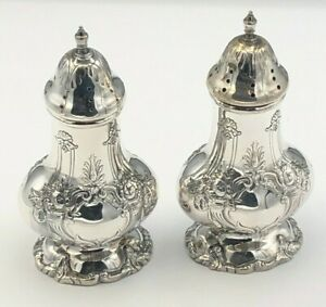Francis I By Reed Barton Sterling Silver Pair Of Salt Pepper Shakers X571