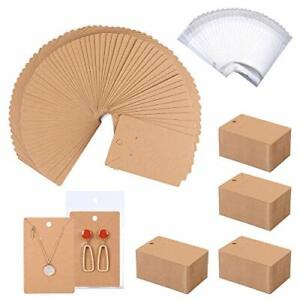 500 Pack Earring Cards Earring Holder Cards With 500 Pcs Bags Earring Displ