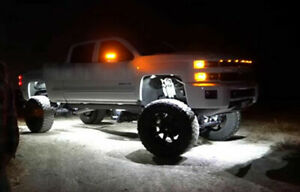 Led Neon Accent Underbody Lights Under Car White Glow Kit For Gmc Sierra
