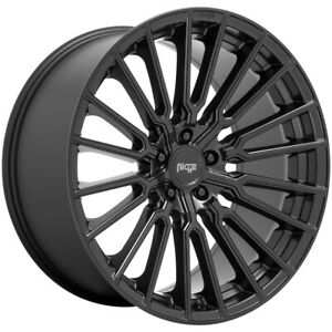 4 niche M250 Premio 20x9 5x108 38mm Matte Black Wheels Rims 20 Inch