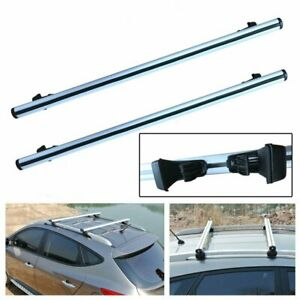 48 Universal Car Top Roof Rack Cross Bar Luggage Cargo Carrier Aluminum