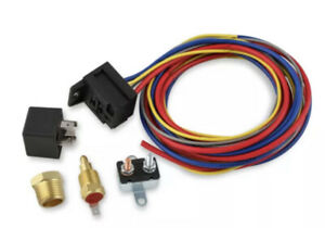 Electric Fan Harness Relay Kit W 195 Degree Thermostat Switch 40105g Thermo T
