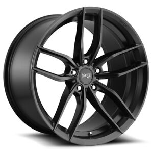 4 niche M203 Vosso 19x8 5 5x112 42mm Matte Black Wheels Rims 19 Inch