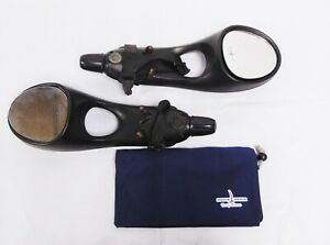 Used Universal Adjustable Towing Mirror Kit no Hardware With Carrying Bag