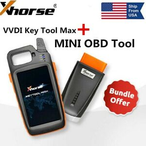Usa Xhorse Vvdi Key Tool Max With Mini Obd Tool Program Transponder Renew Remote