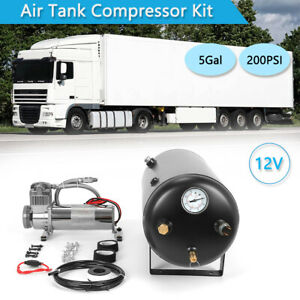 Air Tank Compressor Kit 200psi 5gallon 19l With 5ports For Onboard Air System Us