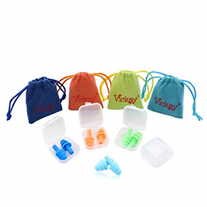 Ear Plugs For Sleeping Noise Cancelling 4 Pairs Vickay Reusable Silicon Ultra 4