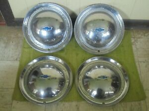 1953 Chevy Hubcaps 15 Set Of 4 Wheel Covers Hub Caps Chevrolet 53